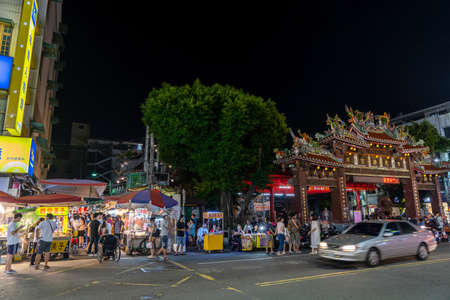 Fengyuan Miao Tung Night Market, famous travel destination. People can seen walking and exploring around it. Big part of Taiwanese culture. Fengyuan District, Taichung city, Taiwan Stock fotó - 151820696