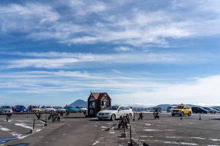 Iwate Prefecture, Japan-OCT 18 2020: Hachimantai summit parking area. Towada-Hachimantai National Park. 報道画像