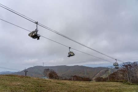 Tashiro Rapid Lift, Tashiro Ski Resort in autumn foliage season. Naeba, Yuzawa, Niigata Prefecture, Japan
