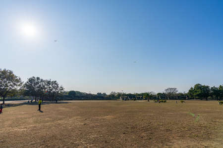 Taichung City, Taiwan-JAN 30, 2021: Taichung Metropolitan Park, an urban park in Xitun District.
