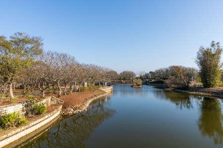 Taichung Metropolitan Park, an urban park in Xitun District, Taichung City, Taiwan.