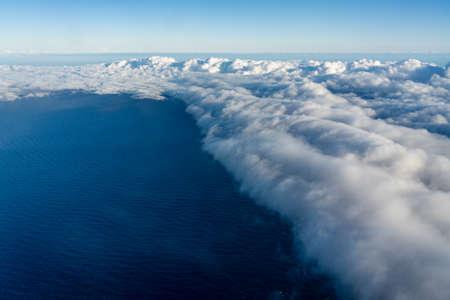 Large cumulonimbus clouds over the ocean Stock fotó