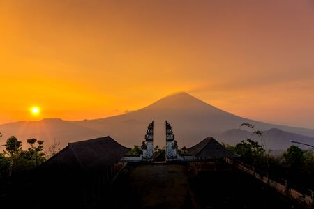 Views from the Pura Lempuyang Luhur Gates of Heaven temple in Bali, Indonesia
