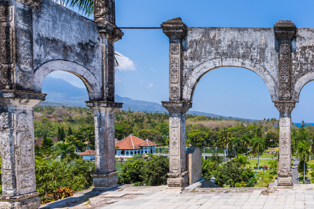 Views of the garden at Ujung Water Palace (also known as Ujung Park or Sukasada Park) in Bali, Indonesia Editorial