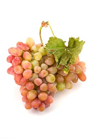 Bunch of white and red grapes over white background Stock Photo - 6798260