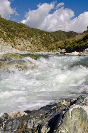 cataracts: Cataracts at mountain river in the spring Stock Photo
