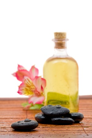 Wellness arrangement with aromatic bath fragrance  photo