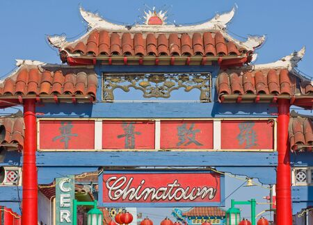 Entrance to china town in Los Angeles, California, USA photo