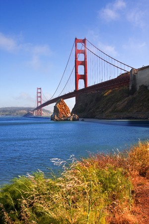 Famous Golden Gate Bridge in San Francisco, California, USA photo