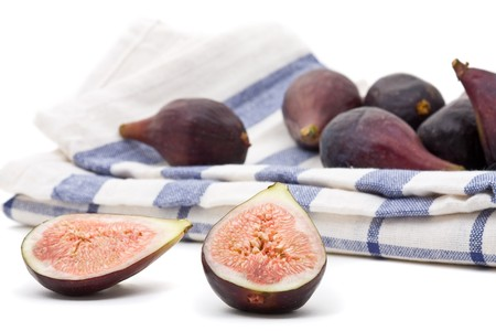 Closeup of delicious organic figs whole and half Stock Photo - 7403742