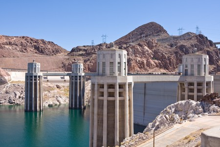 North side view of the hoover dam in Nevada/ Arizona, USA Stock Photo - 7615028