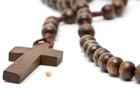 Rosary with mustard seed - symbol of faith Stock Photo - 9168310