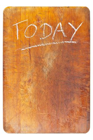 Wooden menu board for today photo