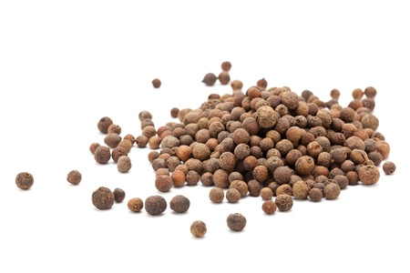allspice: Allspice berries  also called Jamaican pepper or newspice  over white background
