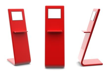 Terminal de l'information; kiosque POI point de vente POS ou le Point-du-informations