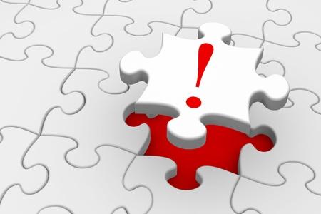 Dernière pièce d'un puzzle se mettent en place - concept de solution ou de réponse