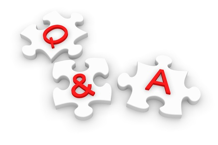 puzzle pieces for Q A photo