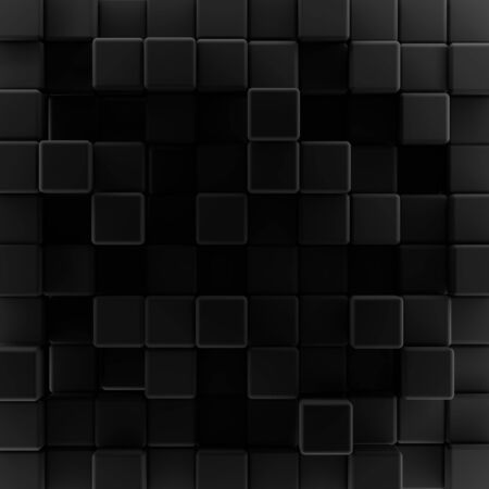 Abstract background design pattern from black cubes Stock Photo - 12962858