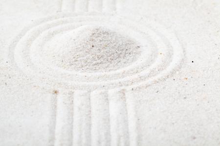 raked: Raked sand garden - zen or meditation concept