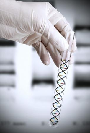 dna laboratory: Researcher Stock Photo