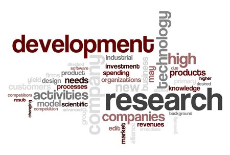 topic: Wordcloud centered on research and development topic