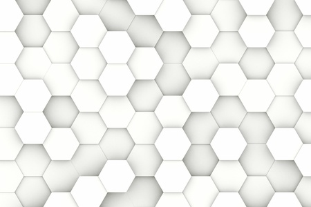 Modern white hexagon shaped structure background texture