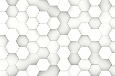 Moderne witte zeshoekige structuur achtergrond textuur
