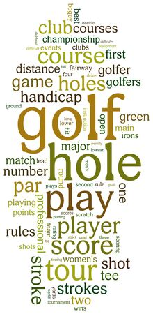 golf swing: Golf sports based terms word cloud tags