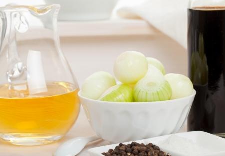 pickling: Pickling onions pickled in dark balsamic vinegar ingredients