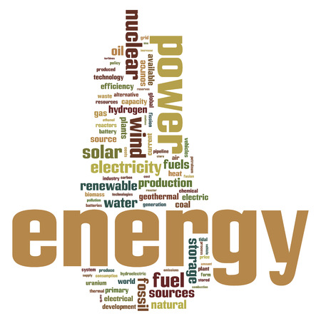 Biomass: Fossil and alternative energy sources word cloud