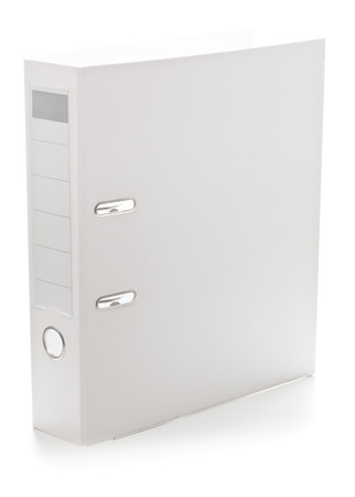ring file: White empty, clean ring file over white  Stock Photo