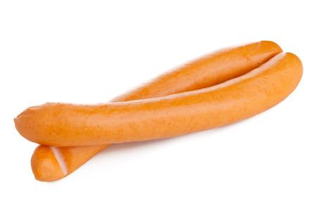 Vienna sausages (Wiener Würstchen or Frankfurter) on white background photo