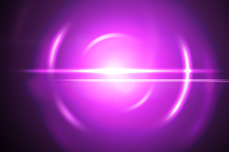 lensflare: Abstract pink lensflare with rings and streaks Stock Photo