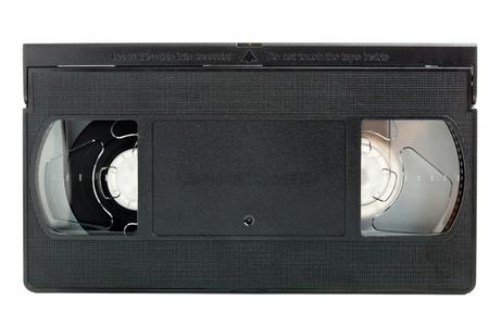 videocassette: Sistema de home video analógico (VHS) cinta aisladas sobre fondo blanco