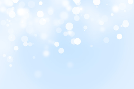 shimmering: Blue and white ice and snow defocused bokeh background with copy space Stock Photo