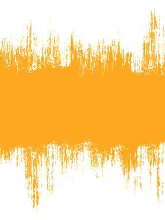 Grunge Distressed weißen Pinsel Banner streicht auf orange Hintergrund