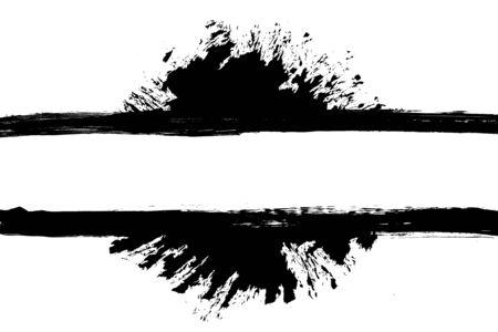 rectangle frame: Grunge distressed paintbrush strokes background rectangle frame with paint splash element illustration