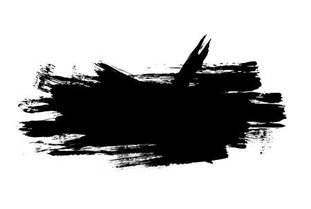 brush stroke: Grunge distressed paintbrush strokes background banner element illustration