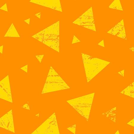 repeatable: Grunge orange and yellow triangle texture - seamless repeatable Stock Photo