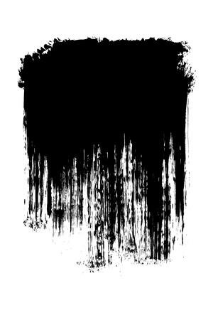 brocha de pintura: Grunge pincel trazos en dificultades de fondo elemento ilustración de la bandera Foto de archivo