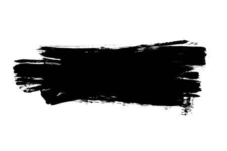 grunge banner: Grunge distressed paintbrush strokes background banner element illustration