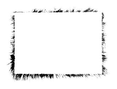 rectangle: Grunge distressed paintbrush strokes background rectangle frame element illustration