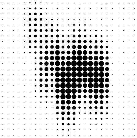 gradation art: Abstract halftone soundwave design element isolated on white background Stock Photo
