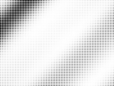 tones: Halftone black dotted wave background pattern Stock Photo