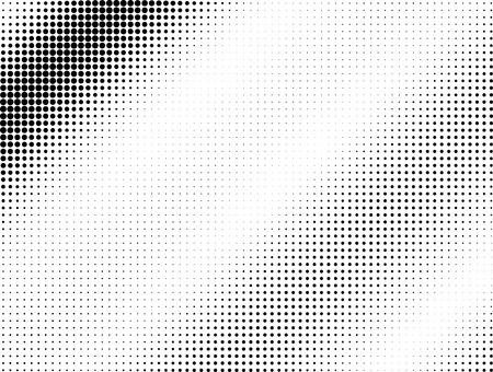 Halftone black dotted wave background pattern Archivio Fotografico
