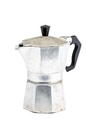 stovetop: Stovetop espresso maker over white background