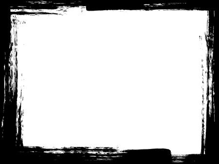 Dirty borstel verontruste verf abstract grunge frame