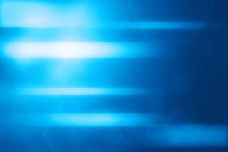 abstract: Abstract blue hexagon and lines glowing technology background illustration
