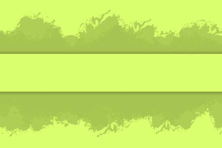 rectangle: Grunge green eco paintbrush strokes background rectangle frame with paint splash element illustration