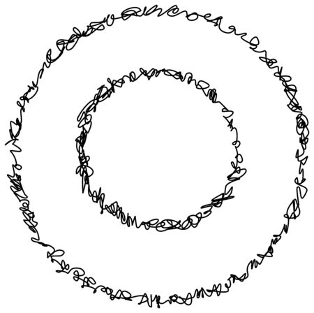 abstract doodle: Abstract hand drawn scribble doodle circle isolated on white background